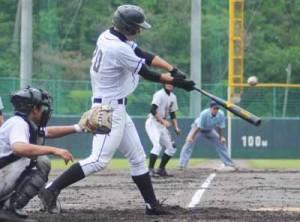 大島地区高校野球初日