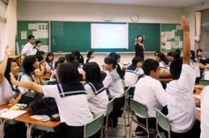 高校の授業の雰囲気がイメージしやすい体験授業もあった一日入学=31日、大島高校
