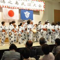 20組が出演した徳之島民謡大会=20日、伊仙町