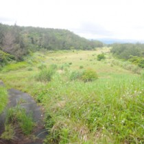 陸上自衛隊の警備部隊建設地に示された奄美カントリークラブ周辺地=奄美市名瀬大熊