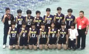全国大会で16強入りを果たした名瀬女子チーム