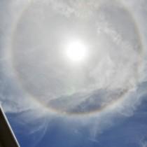 奄美各地で日暈現象②140820沖