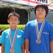 3位入賞を果たした平菓乃、松瀬佑次朗(右から)