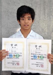 2種目で優勝した池田匡佑