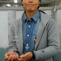 優勝投手となり最優秀選手にも選ばれた里綾実(2013年12月撮影)