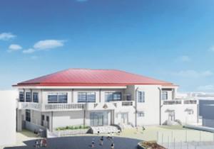 赤木名小学校屋内運動場の完成予想図
