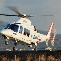 県本土や熊毛地域、トカラ列島の中之島以北をエリアに運航されている県のドクターヘリ(県保健医療福祉課提供)