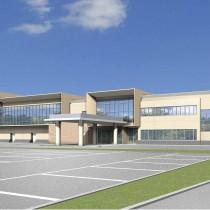 2016年1月の完成を予定している天城町の総合防災拠点施設整備事業の中核となる防災センター(イメージ図)