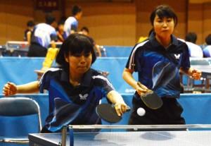 ②SP卓球・団体女子(大島の徳永・水野組)
