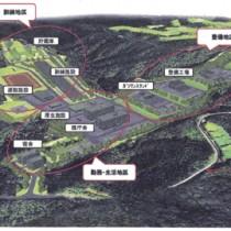 同市名瀬大熊の奄美カントリークラブ近くに建設予定の陸上自衛隊警備部隊駐屯地の配置案