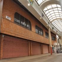 グリーンストアが出店を予定しているティダモール中央通り商店街の店舗=3日、奄美市名瀬