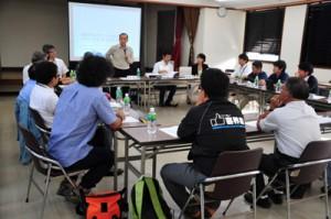 空き家活用や住宅確保で課題も示されたUIOターン支援協議会=30日、奄美市名瀬の奄美会館