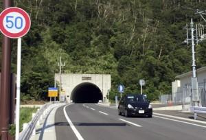 開通から半年が過ぎた網野子トンネル=6日、瀬戸内町網野子