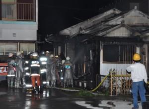 奄美市で1棟全焼、1人死亡