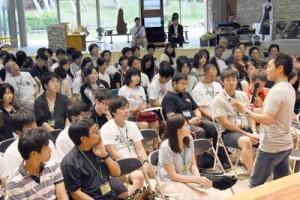 医師や市民が地域医療について語り合ったフォーラム=11日、奄美市笠利町の県奄美パーク