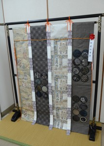 京都府知事賞に輝いた窪山照枝さんの「几帳」