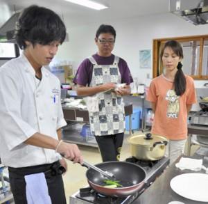 与論町地場産野菜でパスタ作り | 南海日日新聞