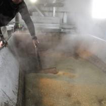 黒糖製造のシーズンを迎えた伊仙町糸木名の製糖工場「きゅらしま黒糖」