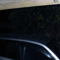 新山さんが雪らしき物体を撮影した画像(提供写真)=24日午後9時ごろ、知名町知名