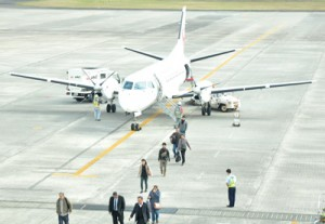 2年連続で乗降客数が60万人を超えた奄美空港