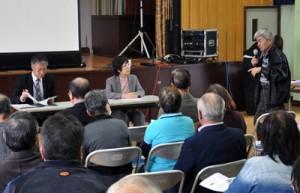 障がい者支援について学んだ地域支え合いシンポジウム=2月29日、知名町中央公民館