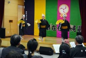 華やかな舞いが観客を魅了した「琉球フェスタ」=28日、奄美市名瀬