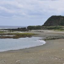 土砂の積出施設の建設が計画された南原海岸=26日、徳之島町