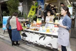 龍郷町の味覚がずらりと並んだフェア=5日、東京中央区