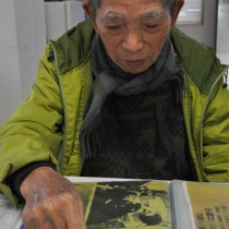 「歌碑を建立して残したい」と話す徳田才二郎さん