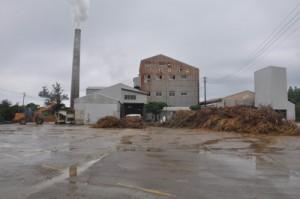 今期製糖を終了した与論島製糖。雨の影響で長期操業となった=10日、与論町