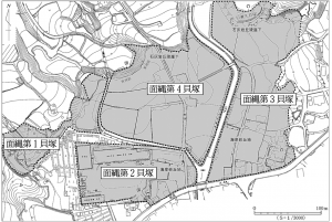 調査で明らかになった面縄貝塚の範囲(伊仙町教育委員会提供)