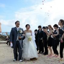 人気を集める「ネリア婚」。毎年約50組が夫婦としての一歩を踏み出している=14日、奄美市笠利町のばしゃ山村