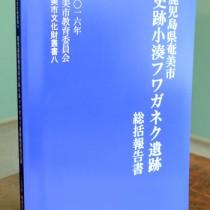 小湊フワガネク遺跡総括報告書刊行160526向