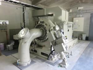 発電機(九州電力提供)