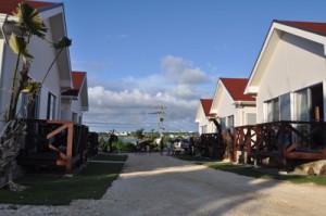 6月にオープンした宿泊施設イチョーキ・ヴィラ=5日、与論町立長