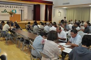 16年度事業計画を決めた和泊町園芸振興会総会=22日、和泊町