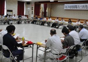 増産に向けた対策などを協議した奄美群島さとうきび生産振興対策協議会の会合=13日、徳之島町