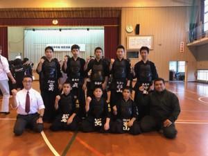 県中学校地区選抜剣道大会で3位になった大島の選手たち=提供写真