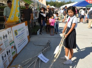 イベントを楽しむ来場者でにぎわった食と農林漁業の祭典=13日、徳之島町