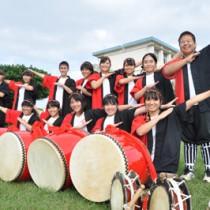 全国大会に出場する沖永良部高校のエイサー部(上)と空手部の平山美桜さん