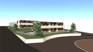 阿三地区に建設する定住促進住宅の完成イメージ