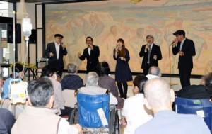 患者や家族を元気づけた大島病院あまんの会コンサート=11日、奄美