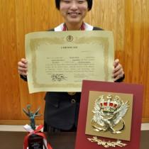 レシテーションの部で全国3位になった平沙也香さん=11日、奄美高校