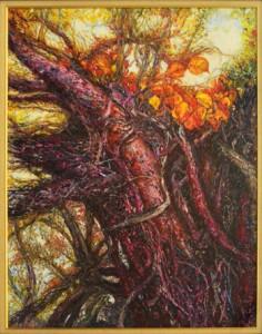 奄美市美展賞を受賞した美術・中野さんの「悠久」