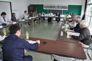 沖永良部島鳥獣被害防止対策広域連絡協議会の設立会合=24日、和泊町