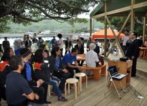 ■喜界島サンゴ研究所の研究・展示棟が完成(式典)写真 丸山