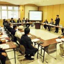 奄美市のまちづくり事業などで中間報告があった国公有財産最適利用推進協議会=27日、同市名瀬のAⅰAⅰひろば