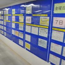 求人票の一部が貼り出されているハローワーク名瀬=11日、奄美市名瀬