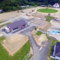 中核施設の整備が進む奄美市住用町の現場
