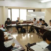 16人が受講した奄美市生涯学習講座「生誕100年 島尾敏雄の世界を学ぶ」=10日、奄美市名瀬の名瀬公民館